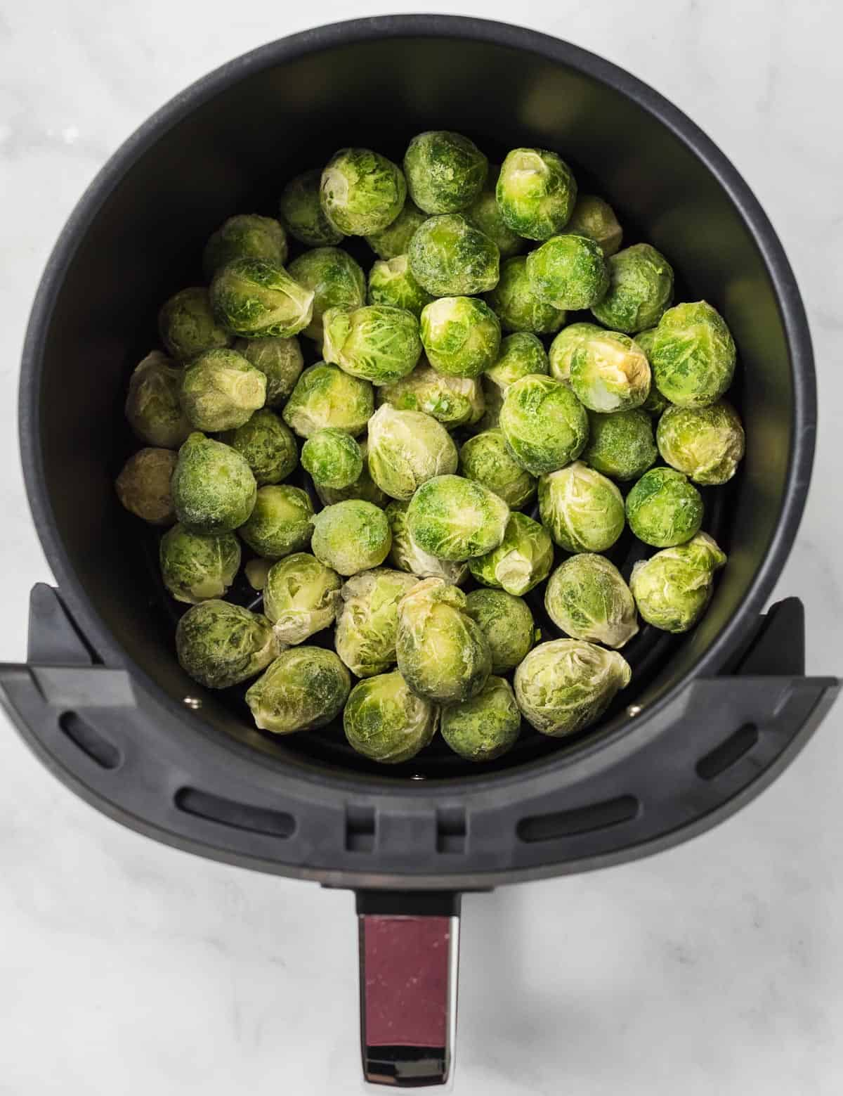 frozen brussel sprouts in an air fryer